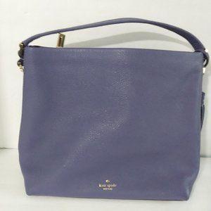 Kate Spade Lavender Leather Hobo Bag w Tassels